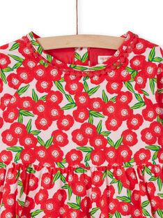 Abito a maniche lunghe con stampa a fiori LAROUROB1 / 21S901K1ROBF517