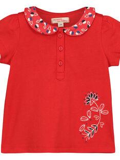 T-shirt colletto Peter Pan neonata FITOBRA / 19SG09L1BRA330