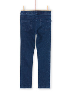 Jeggings stile jeans blu scuro con stampa bambina MAJOJEG1 / 21W90115PANP271