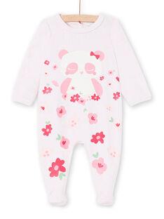 Tutina corredo bambina rosa melange motivo panda LEFIGRECHA2 / 21SH1359GRED314