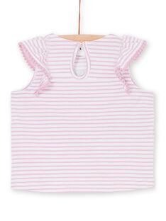 T-shirt rosa e bianca a righe neonata LIVITI / 21SG09U1TMC320