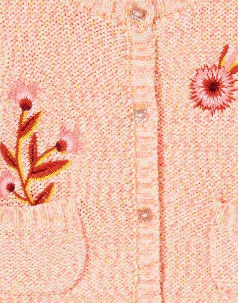 Cardigan rosa in maglia neonata LINAUCAR2 / 21SG09L1CAR318