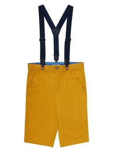 Bermuda giallo mais bambino con bretelle JOSOBER2 / 20S90282BERB107