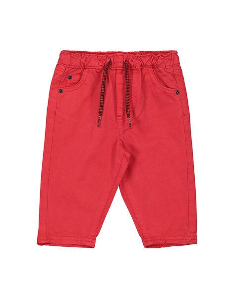 Pantaloni rossi neonato FUJOPAN1 / 19SG1031PANF505