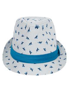 Cappello bambino con motivo + gros-grain intorno al cappello JYOJACHAP1 / 20SI02B1CHAJ917