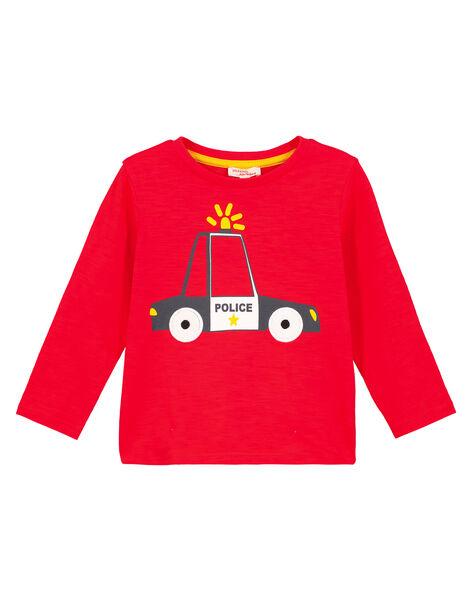 T-shirt collo rotondo Rossa maniche lunghe GOSANTEE4 / 19W902C2TML505