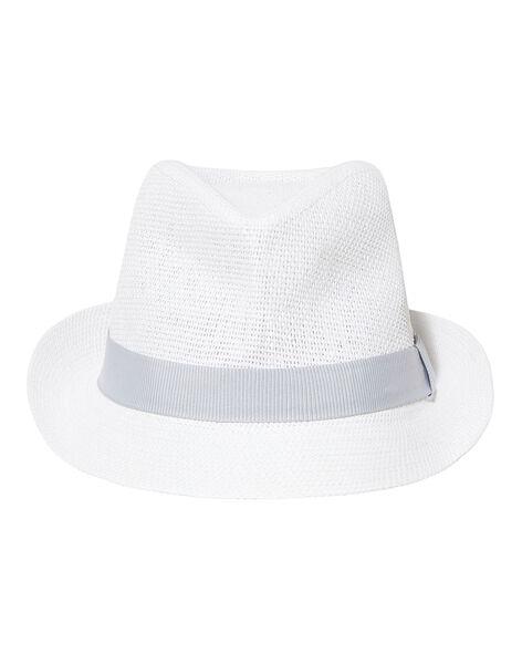 Cappello bambino bianco con fascia grigia JYOPOECHA / 20SI02G1CHA000