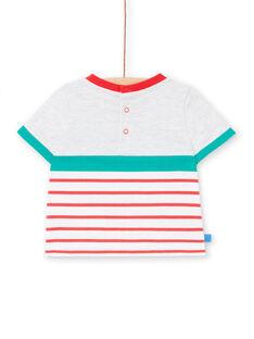 T-shirt grigio melange neonato LUVITI2 / 21SG10U2TMCJ920