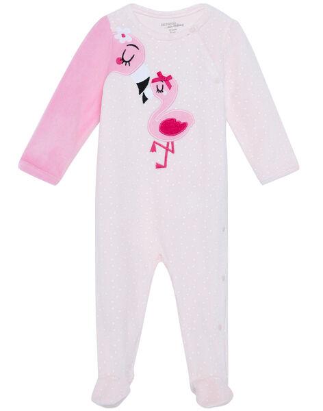 Tutina neonata in velluto rosa JEFIGREFLAM / 20SH13C2GRED310