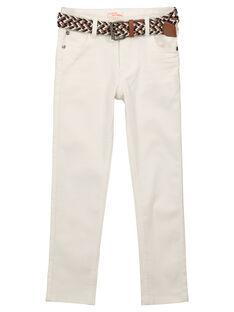 Jeans bianchi con cintura bambino FOJOUPAN1 / 19S902T1PAN000
