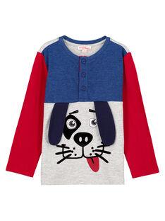 T-Shirt Collo alla Tunisina Tricolore GOTRITEE1 / 19W902J1TML943