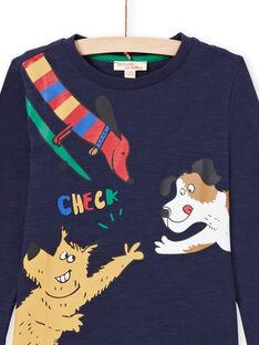T-shirt navy bambino MOMIXTEE5 / 21W902J4TML717
