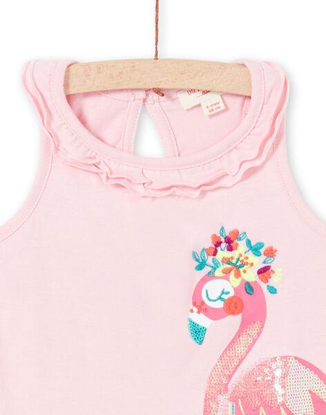 Canottiera rosa con volant neonata LIBONDEB / 21SG09W1DEBD318