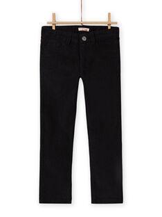 Pantaloni tinta unita neri bambino MOJOPAVEL8 / 21W902N4PAN090