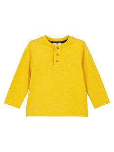 T-shirt collo alla tunisina Ocra maniche lunghe GOJOTUN3 / 19W90235D32B116