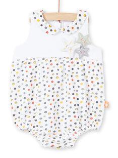 Pagliaccetto bianco e giallo a pois nascita bambina LOU2BAR / 21SF03I1BAR000