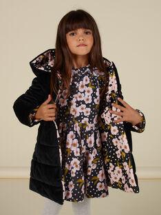 Parka double face in velluto con stampa a fiori bambina MAHIPARKA / 21W90165PARJ905