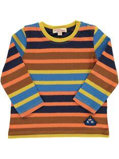 Baby boys' striped T-shirt DUBLETEE3 / 18WG1093TML099