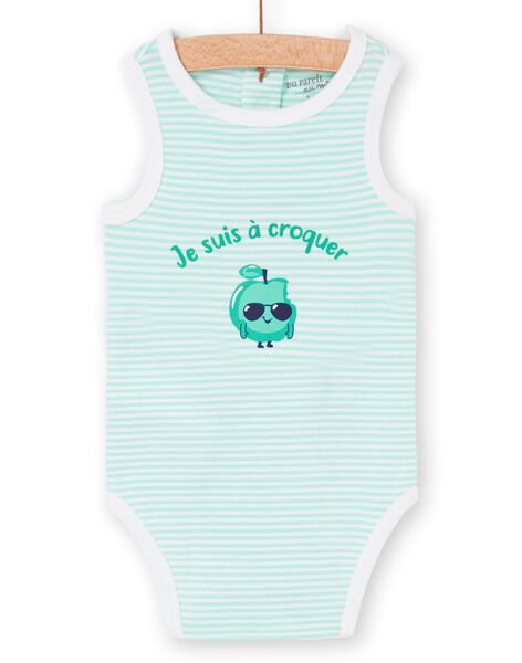 Body bianco e verde neonato LEGABODPOM / 21SH14G6BDL000