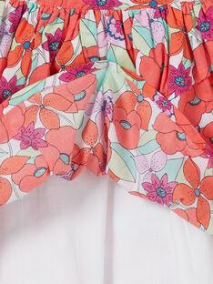Gonna verde e arancione con stampa a fiori LAVIJUP1 / 21S901U2JUP000