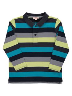 Boys' striped polo shirt DOGIPOL / 18W902N1POL099