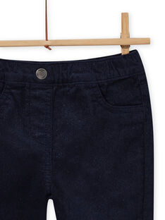 Jeggings in velluto a costine navy bambina MAJOVEJEG1 / 21W901N6PAN070