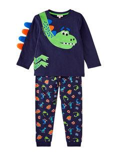 Pigiama blu notte dinosauro fosforescente bambino JEGOPYJDINO / 20SH12C1PYJ705