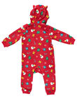 Tutina sacco nanna con cappuccio natalizia in soft boa neonato, bambino e adulto GEMISURNO / 19WH12T1D4SF505