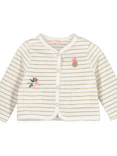 Cardigan in cotone con stampa neonata FICUCAR / 19SG09N1CAR000