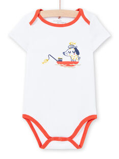 Body bianco con stampa neonato LEGABODMAR / 21SH14G5BDL000