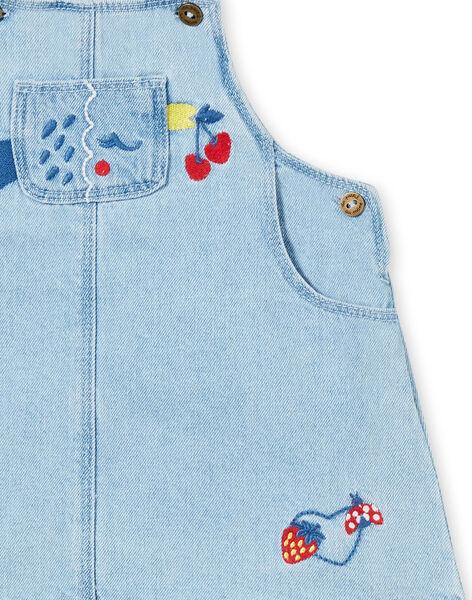 Abito salopette in jeans neonata LICANROB1 / 21SG09M1ROBP272