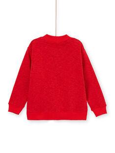 Cardigan rosso melange bambino LOVIGIL / 21S902U1GILF520