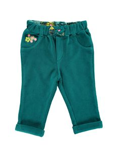 Baby girls' stretch velour trousers DIVEPAN / 18WG0971PAN714