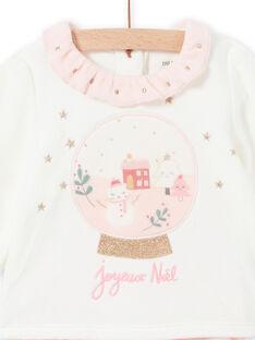 Set pigiama bicolore motivo di Natale in velluto neonata MEFIPYJNO / 21WH13F1PYJD329