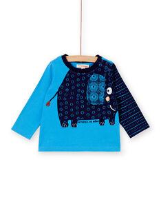 Sky blue T-SHIRT KUSATEE1 / 20WG10O1TMLC201