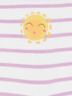 Set 5 culotte rosso, bianco e giallo a righe bambina LEFAHOTSEM / 21SH1125SHY000