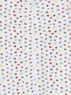 Tutina bianca e rossa a pois LOU1GRE7 / 21SF05H5GRE000