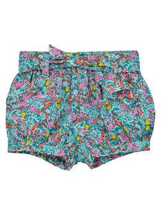Shorts a fiori neonata FICUSHO2 / 19SG09N1SHO202