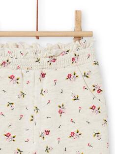 Pantaloni sportivi beige con stampa a fiori neonata MIKABAJOG / 21WG09I1JGBA011