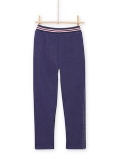 Pantaloni foderati blu bambina MAPLAPANT2 / 21W901O2PANC202
