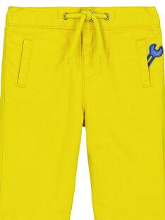 Pantaloni Gialli GUJAUPAN2 / 19WG10H2PANB114
