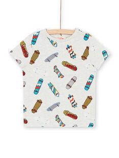 T-shirt grigio melange e blu - Bambino LOPOETI1 / 21S902Y2TMCJ920