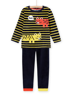 Set pigiama motivi animali in velluto bambino MEGOPYJRAY / 21WH1291PYJ705
