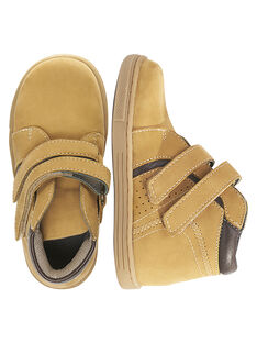 Sneakers pelle scamosciata beige bambino GGBASBOOT / 19WK36I7D3F804