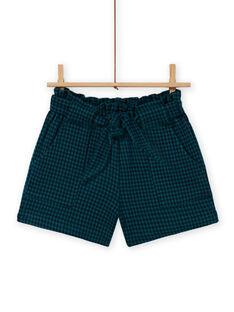 Shorts paper bag milano a quadri bambina MATUSHORT / 21W901K1SHO070
