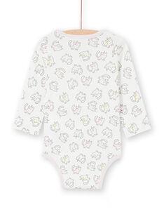 Body corredo bambina a maniche lunghe stampa gattini-unicorni multicolore LEFIBODANI2 / 21SH1328BDL001