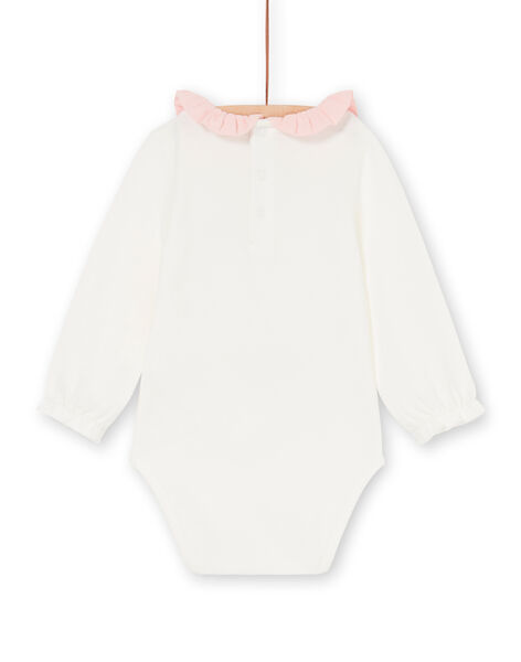 Body ecrù e rosa neonata LICANBOD / 21SG09M1BOD001