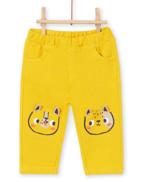 Pantaloni gialli neonato LUNOPAN1 / 21SG10L1PAN106