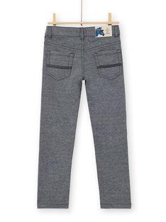 Pantaloni blu notte e grigio melange in maglia bambino LOBLEPAN2 / 21S902J2PAN705