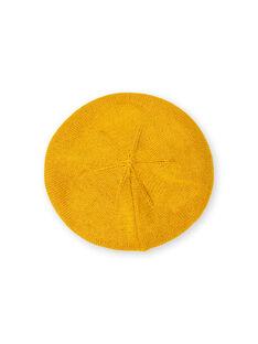 Basco giallo in maglia sottile neonata LYINAUBON / 21SI09L1BON106